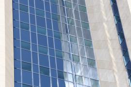 Спуск из здания Газпрома