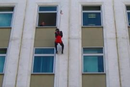 Эвакуация сотрудников банка