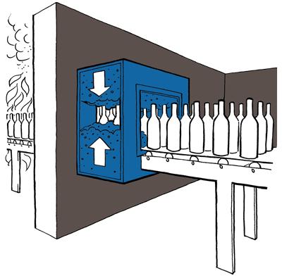 Priešgaisrinės konvejerinių sistemų užsklandos Fogo