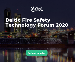Baltic Fire Safety Technology Forum 2020 renginys LITEXPO